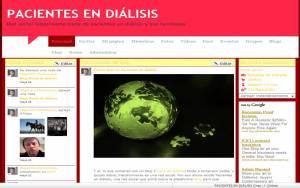 """Página principal de la red """"Pacientes en diálisis"""""""